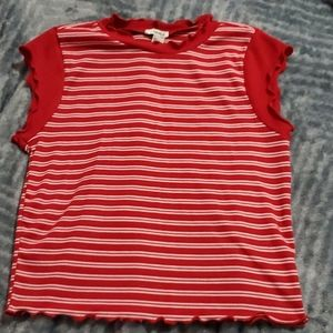 Red and white top from forever 21.